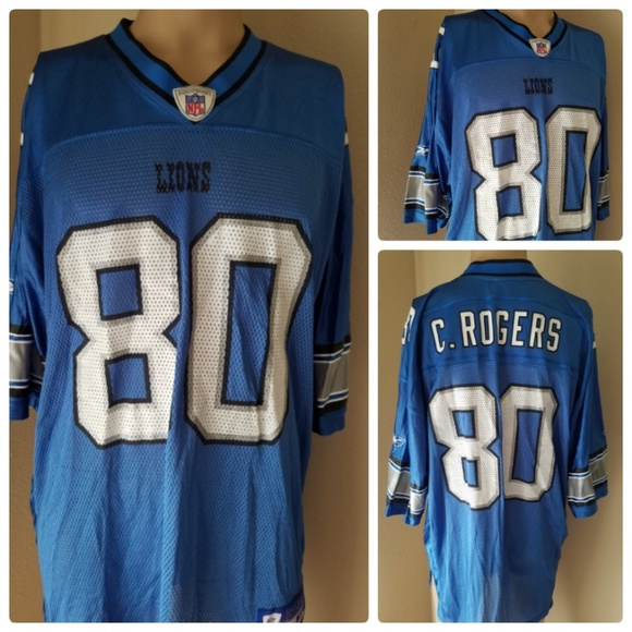 sports shoes 47fe2 b831c Detroit Lions Charlie Rogers Jersey #80 Authentic